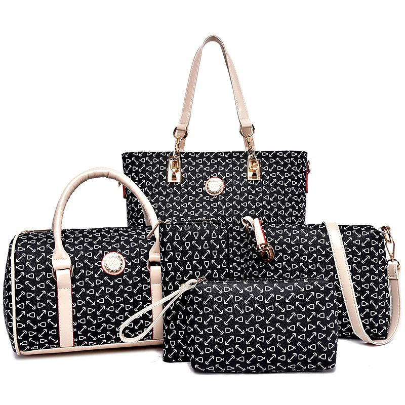 MIWIND 2019 New Women Handbags Buy One Get Five High Quality PU Leather Fashion Sweet Ladies Shoulder Bags Seven Colors Set Bag