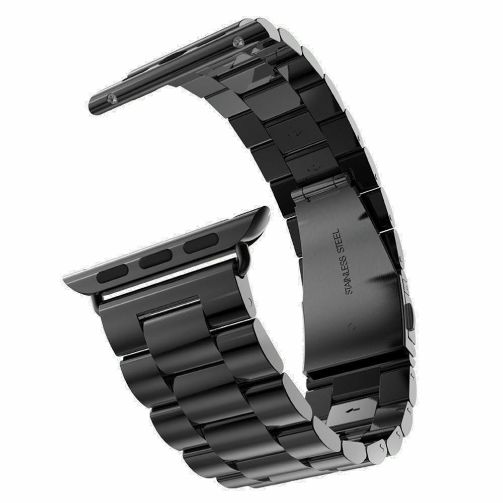 Nouvelle Qualité Inoxydable Bracelet En Acier Bande pour Apple Montre Bande Sport Édition Noir Argent Or Bracelet 38mm 42mm pour iWatch bande
