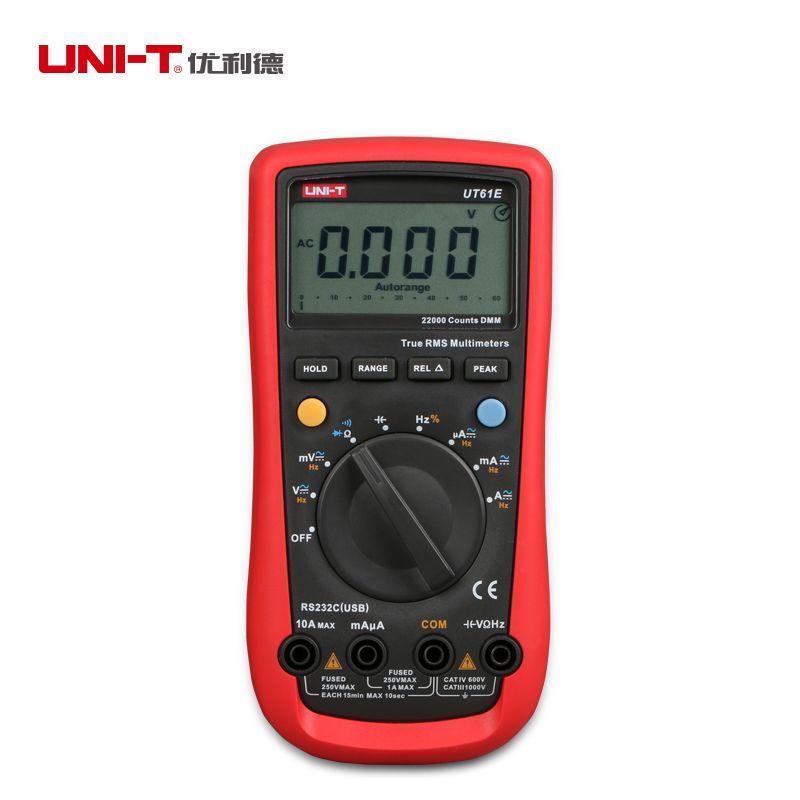UNI-T UT61E multimètres numériques gamme automatique véritable RMS AC DC mètre 22000 comptes DMM données tenir multitesteur