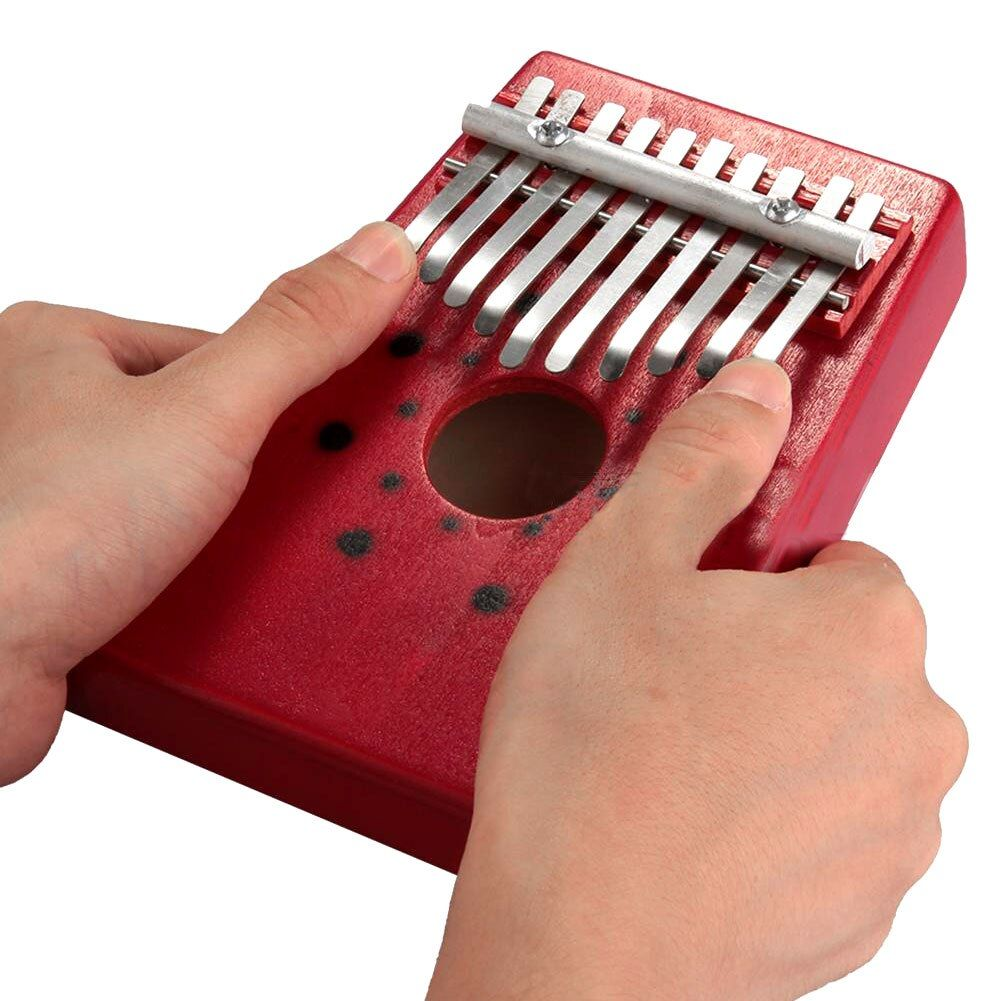MSOR 2017 offre spéciale rouge 10 clés Kalimba pouce Piano Instrument de musique traditionnel Portable grand cadeau livraison directe