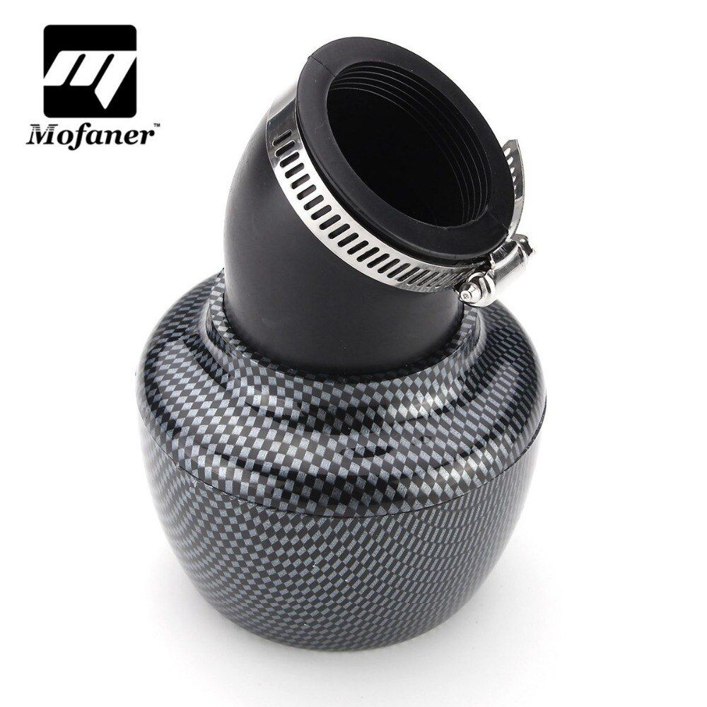 42mm Motorcycle Air Filter Carbon Fibre For 150cc 250cc ATV Quad Moped Scooter Go kart