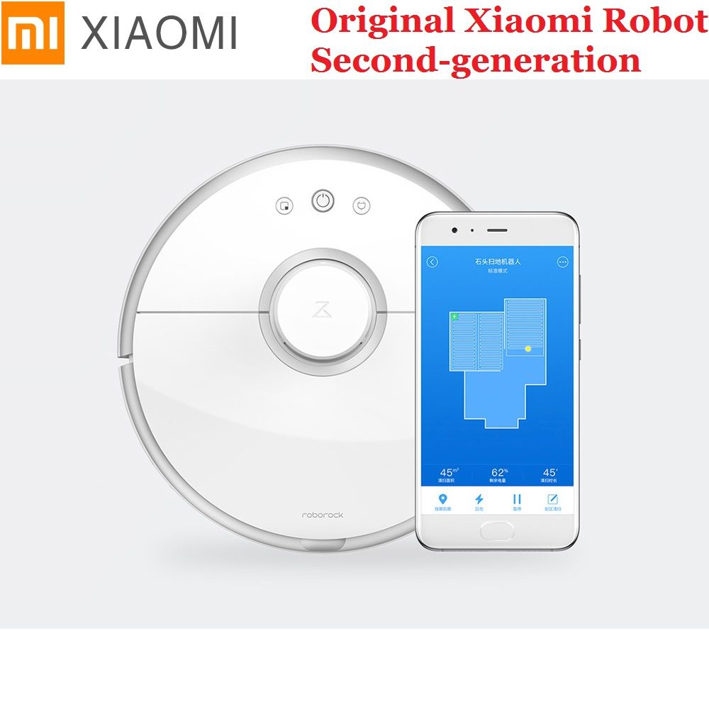Xiaomi Mijia Mi Robot Vacuum Cleaner 2 Smart Roborock S50 Cordless Automatic Dust Cleaning For Home Office Sweep Mopping App