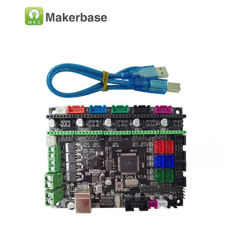 Carte d'imprimante 3D contrôleur MKS Gen L V1.0 compatible avec les pilotes Ramps1.4/Mega2560 R3 A4988/8825/TMC2208/TMC2100