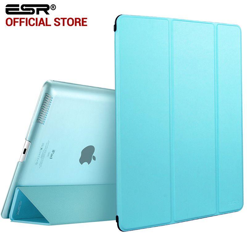 <font><b>Case</b></font> for iPad 2 3 4, ESR Yippee Color PU Transparent Back Ultra Slim Light Weight Trifold Smart stand Cover <font><b>Case</b></font> for iPad 2/3/4
