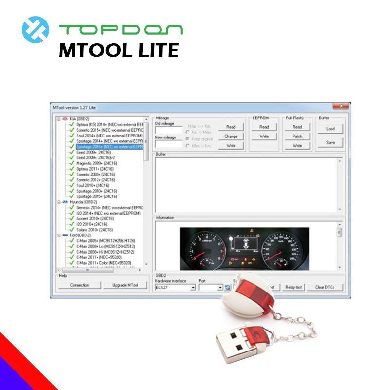 MTool Lite 1,27 Version Auto Diagnose Laufleistung Programmierer Laufleistung Ändern von Autos OBD Auto Laufleistung Korrektur diagnose werkzeug OBD2