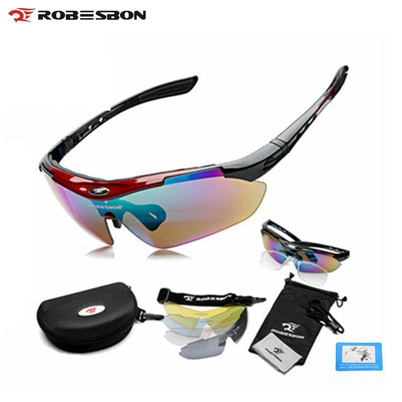 ROBESBON Спорт велосипед Велосипедный Спорт Для мужчин Для женщин поляризационные Солнцезащитные очки для женщин очки Очки очки 5 Оптические с...