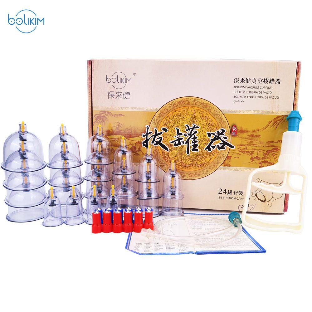 BOLIKIM 28 pièces Vide Ventouses Massage Boîtes Corps Masseur Masseur De Cellulite Santé Produits Boîtes Massage comme Cadeau pour les Amis