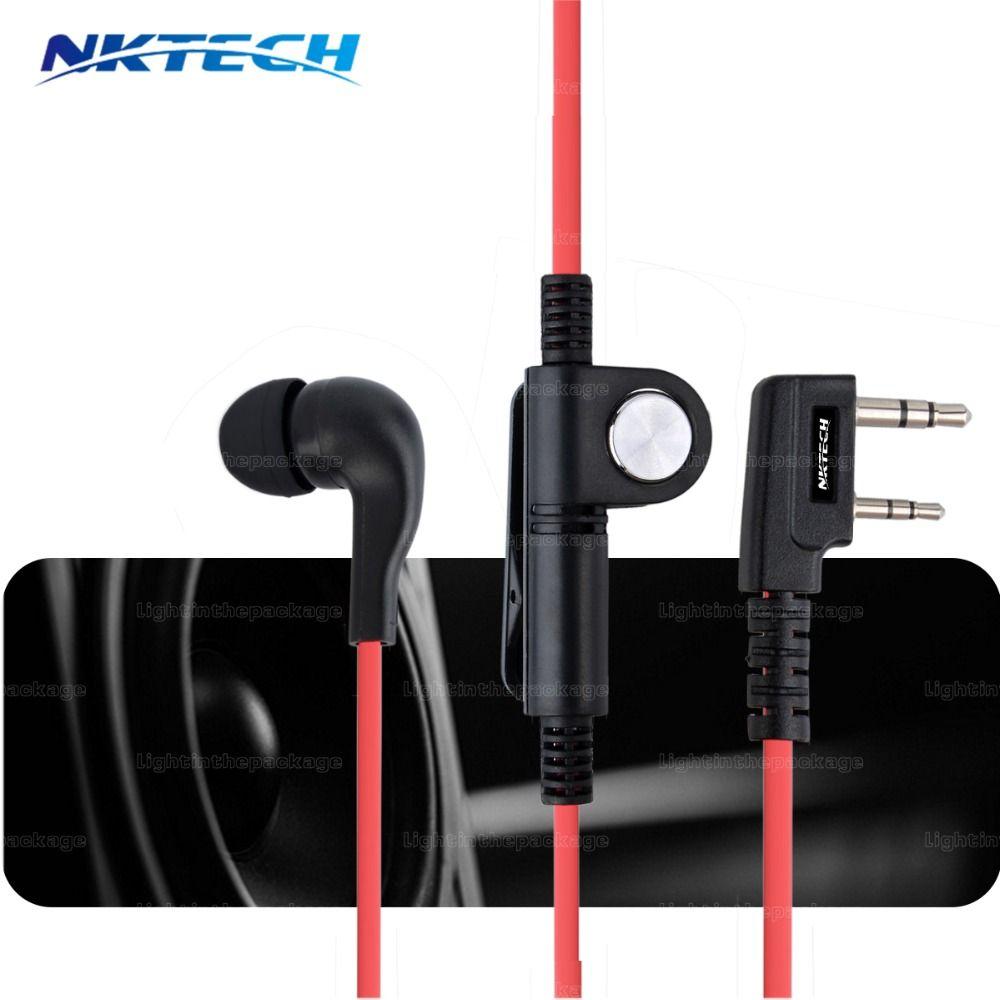 NKTECH Earphone Mic Earpiece Headset For Baofeng UV-5R UV82 BF888S BF777S UV5RX UV7RX Walkie Talkie WOUXUN TYT QYT 3 colors
