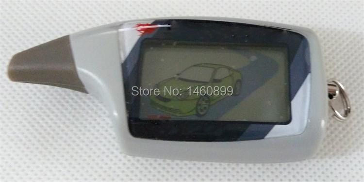 Freeshipping LCD Remote Control Key Fob For Russian Vehicle Security 2 Way Car Alarm System Scher Khan M5 Scher-khan Magicar 5