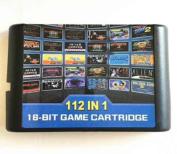 112 in 1 Game Cartridge 16 bit Game Card For Sega Mega Drive MD for Megadrive For Genesis console