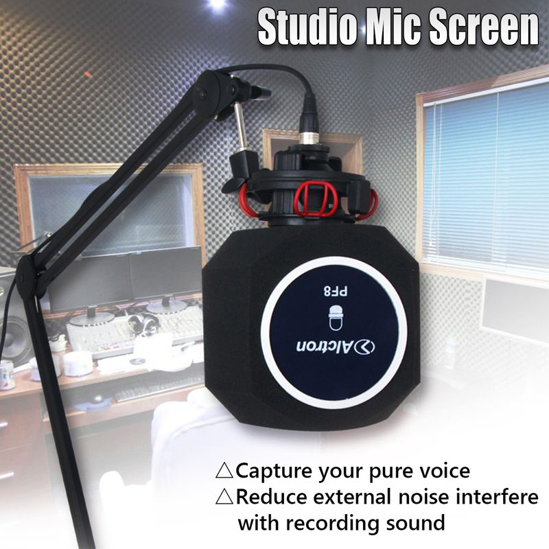 Alctron PF8 Professional Simple Studio Mic Screen Acoustic Filter New Arrive Desktop Recording Wind Screen
