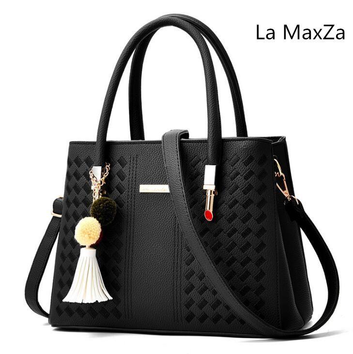 La MaxZa 2018 New handbag Tassel Pendant Bags Bags Fashion bag Shoulder Messenger