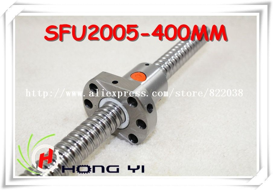 1pcs Ball screw SFU2005 - L400mm and 1pcs Ballnut for CNC and BK/BF15 standard processing