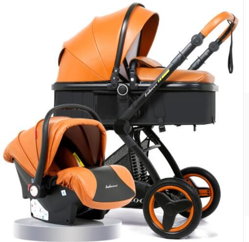 Belecoo Luxury Baby Stroller 2 in 1 Carriage High Landscape Pram Suite for Lying and Seating on 2018