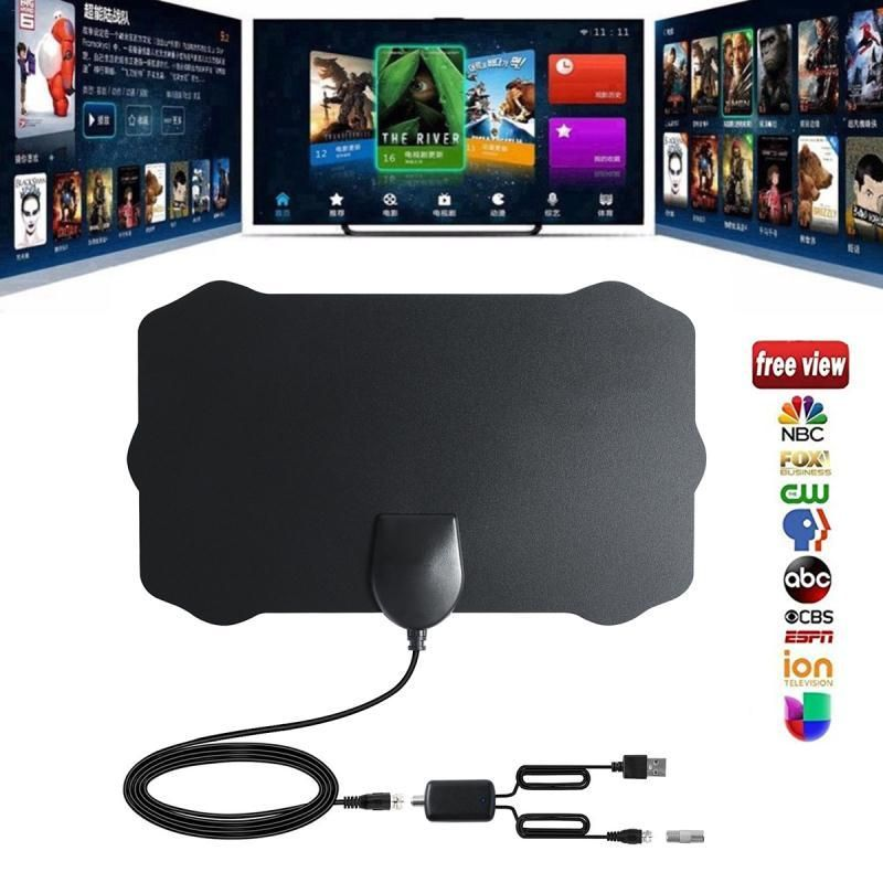 120 Miles Antena Digital HDTV Indoor HD TV Antenna with Amplifier Signal Booster TV Radius Surf Fox Antena HD TV Antennas Aerial