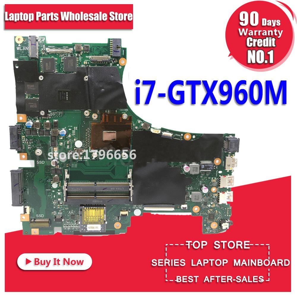 GL553VW Motherboard I7-6700HQ GTX960M For ASUS GL553VW GL553VD GL553E GL553V GL553 laptop Motherboard GL553VW Mainboard test ok