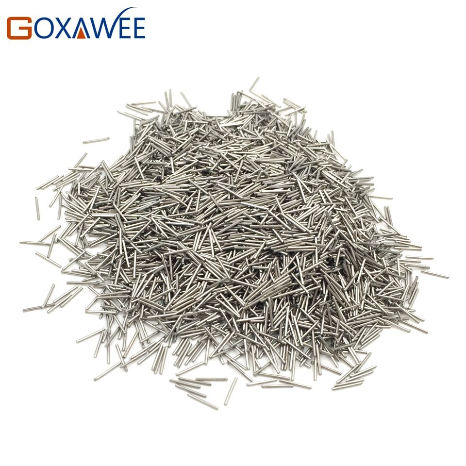 Mini Pins Magnetic Rotary Tumbler Accessories 200g Dia 0.3-0.6mm Jewelry Polishing Needles Media Stainless Steel Magnetic Pins