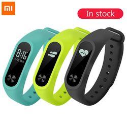 100% D'origine Xiaomi Mi Bande 2 de Remise En Forme Intelligente Bracelet Montre Bracelet Miband OLED Touchpad Sommeil Moniteur de Fréquence Cardiaque Mi Band2