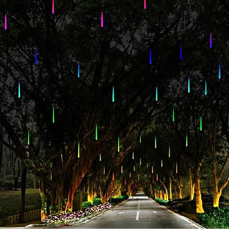 Christmas Lights Outdoor 2M 20Cm Meteor Showers Tube Fairy Lights Led Xmas Garden Decoration Home Party Wedding Luces De Navidad