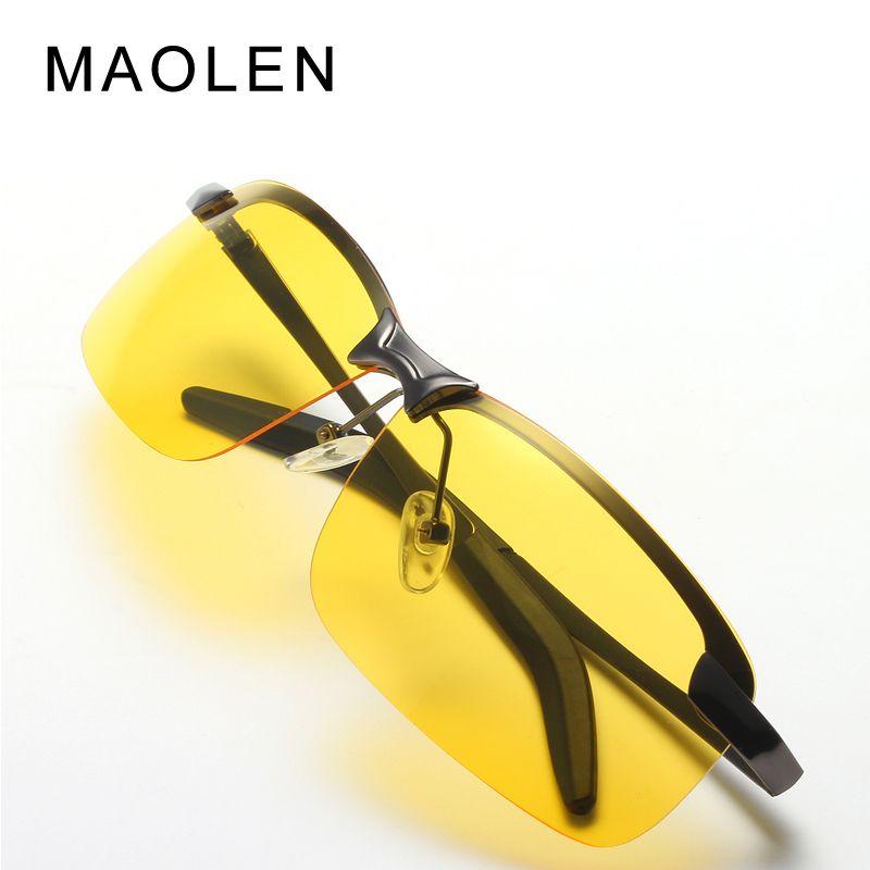 Mafairy lunettes de soleil polarisées voiture pilotes lunettes de vision nocturne anti-éblouissement polariseur conduite lunettes de soleil hommes lunettes de soleil UV400-3043