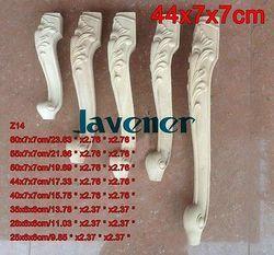 Z14-44x7x7 см деревянный резной Onlay аппликация декор для плотника дерево Рабочий плотник нога цветок