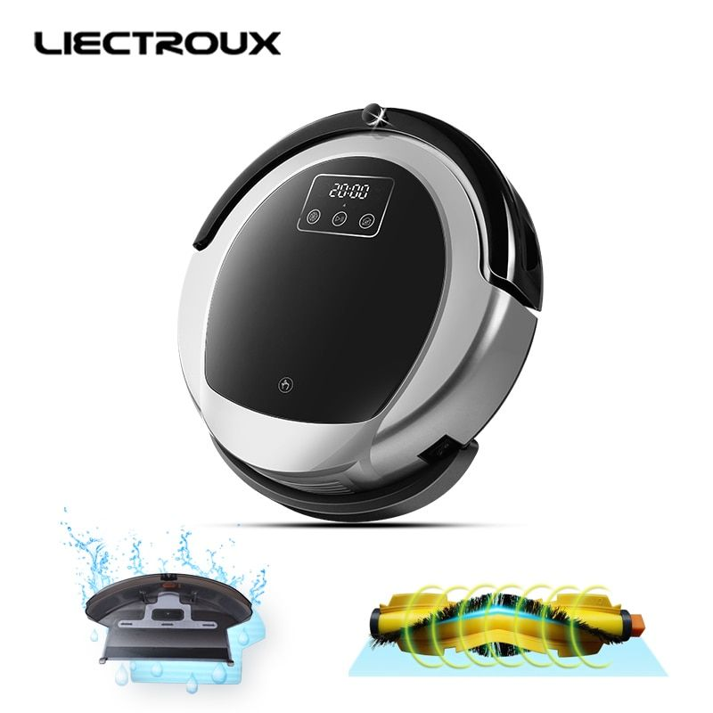 2018 LIECTROUX Robotic Vacuum Cleaner B6009, 2D Map & Gyroscope Navigation,home withMemory,Virtual Blocker,HEPAfilter water tank