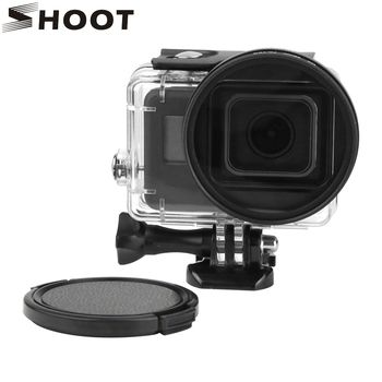 SHOOT 58mm UV Filter for GoPro Hero 6 5 Black Waterproof Case with Lens Cover and Adapter Go Pro Hero6 5 Action Camera Accessory
