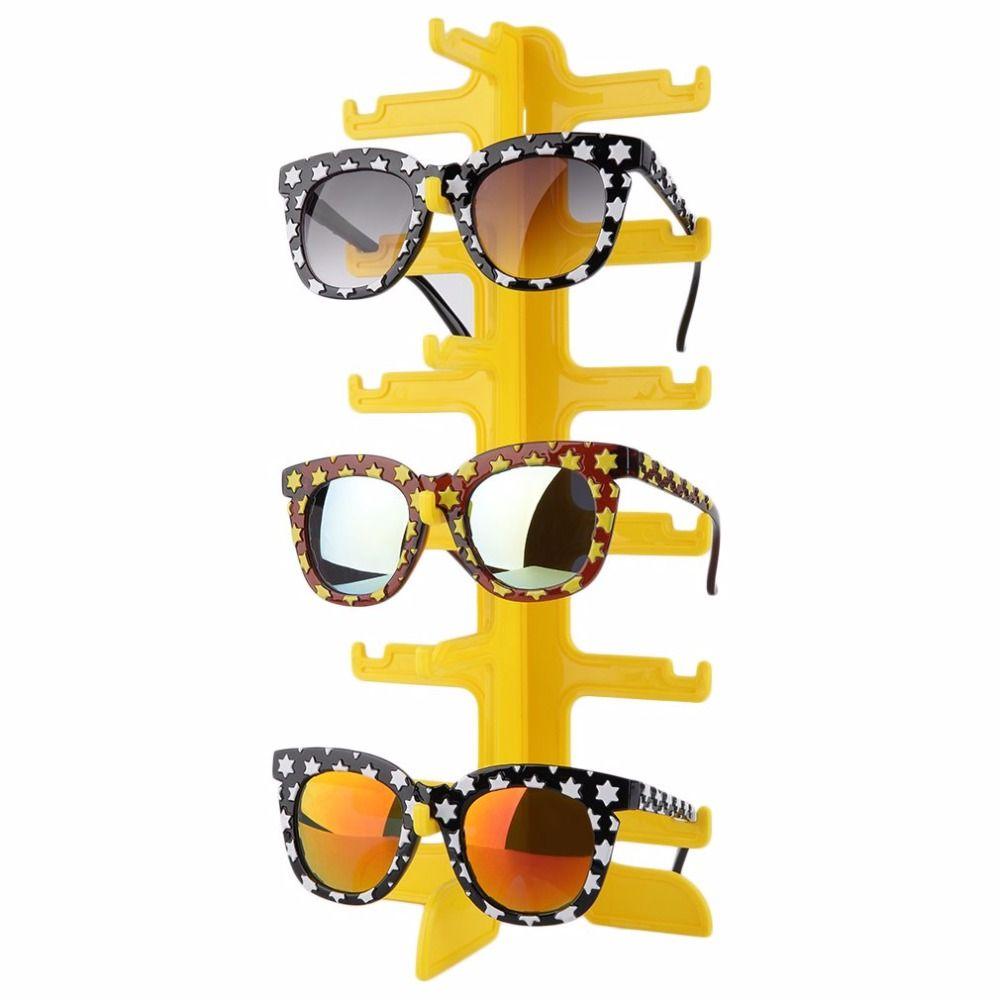 6 Pairs Plastic Sun Glasses Eyeglasses Display Stands Rack Frame Shelf Eyewear Counter Show Stand Holder Stent showcase