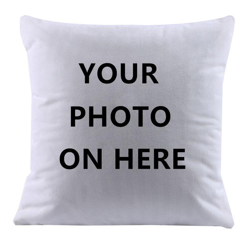2017 Design Picture here Print, Pet ,wedding personal life photos customize gift home cushion cover pillowcase capa de almofadas