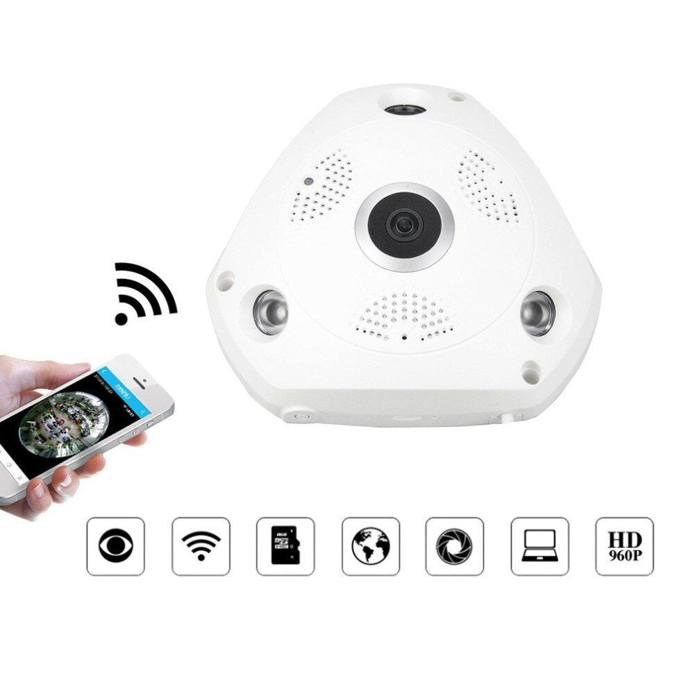 360 Degree Panoramic WiFi IP Camera 1.3MP Video Surveillance Wifi Camera Home Security Wireless Monitor Support APP Remote View