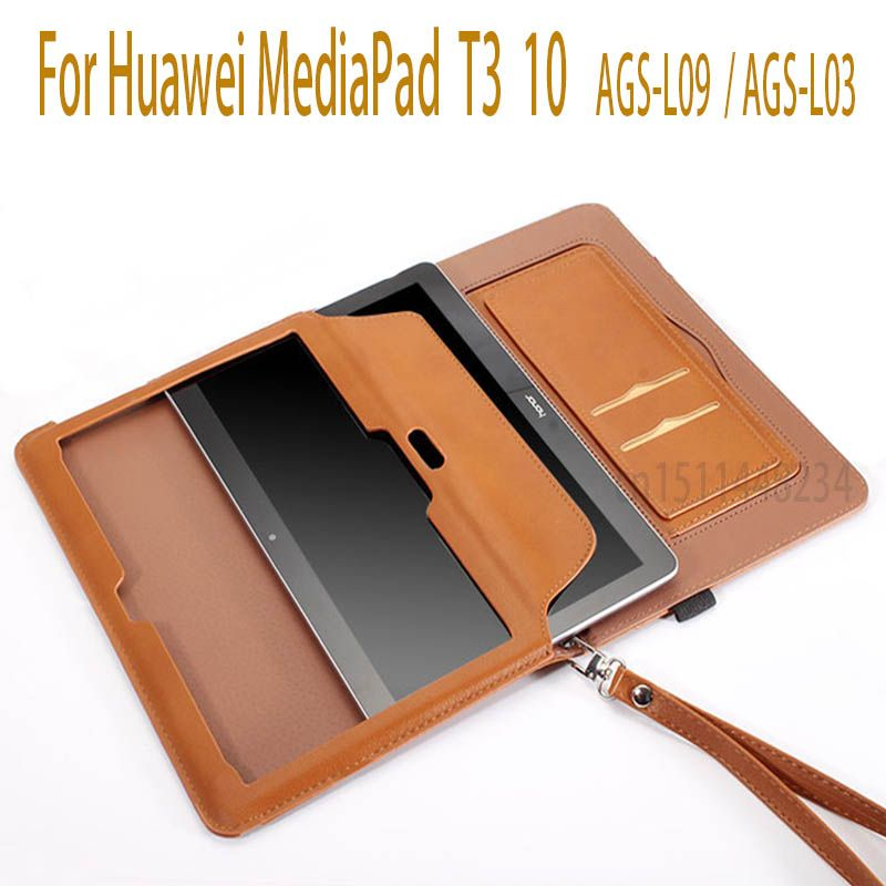 AORUIIKA For Huawei MediaPad T3 10 Tablet Smart Magnetic sleep Cases For T3 9.6 inch Honor Play Pad 2 Cover AGS-L09 AGS-L03 W09