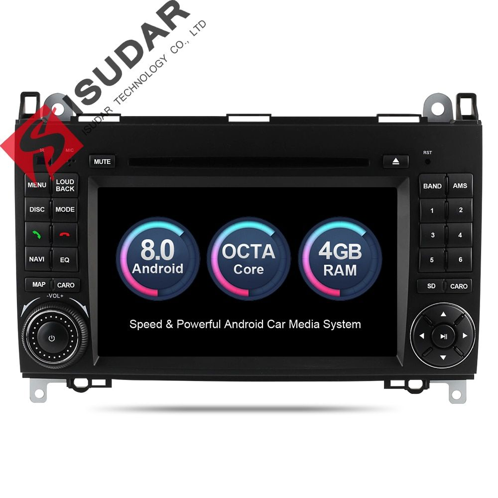 Isudar Car Multimedia Player 2 din Car Radio GPS Android 8.0 Stereo System For Mercedes/Benz/Sprinter/W169/B200/B-class DSP OBD2