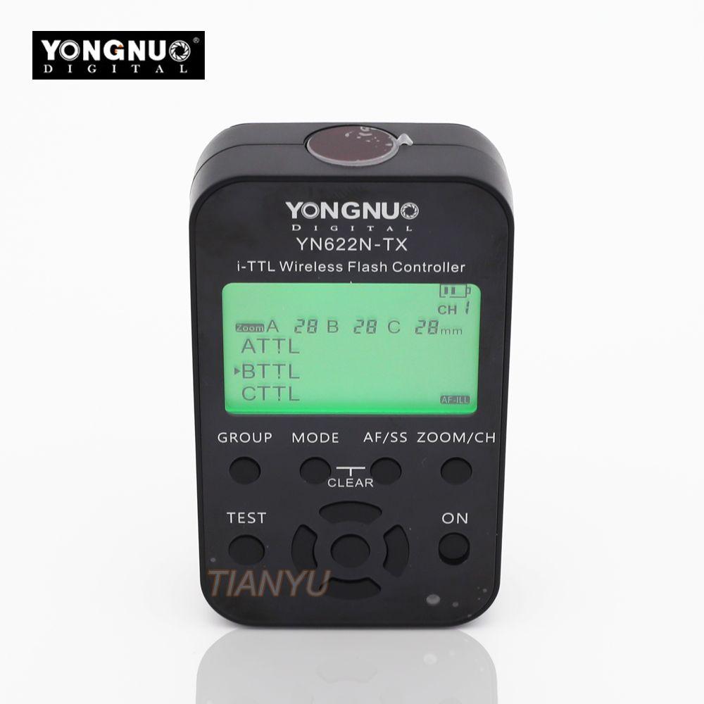 YONGNUO YN-622N-TX YN622N-TX YN 622N TX ich-TTL LCD wireless-controller wireless flash trigger transceiver Für Nikon DSLR