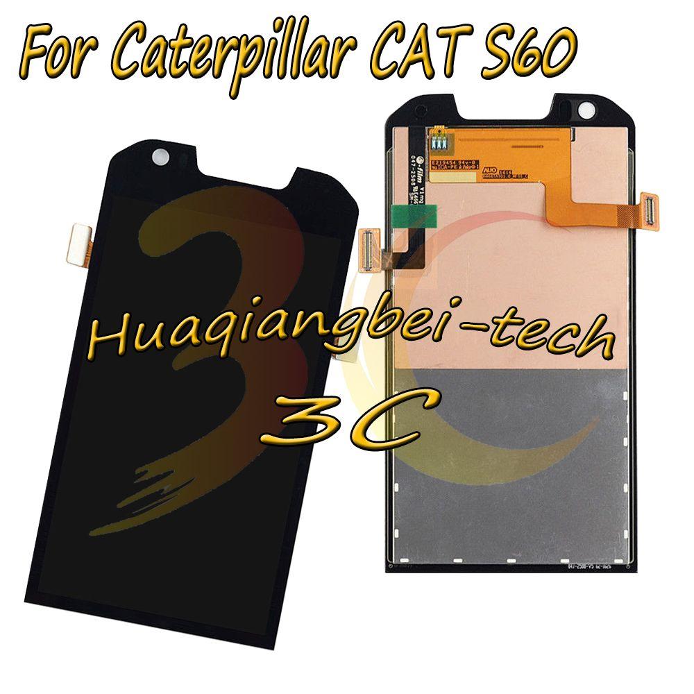 4,7 ''Original Neue Schwarz Für Caterpillar CAT S60 Volle LCD DIsplay + Touch Screen Digitizer Montage 100% Getestet