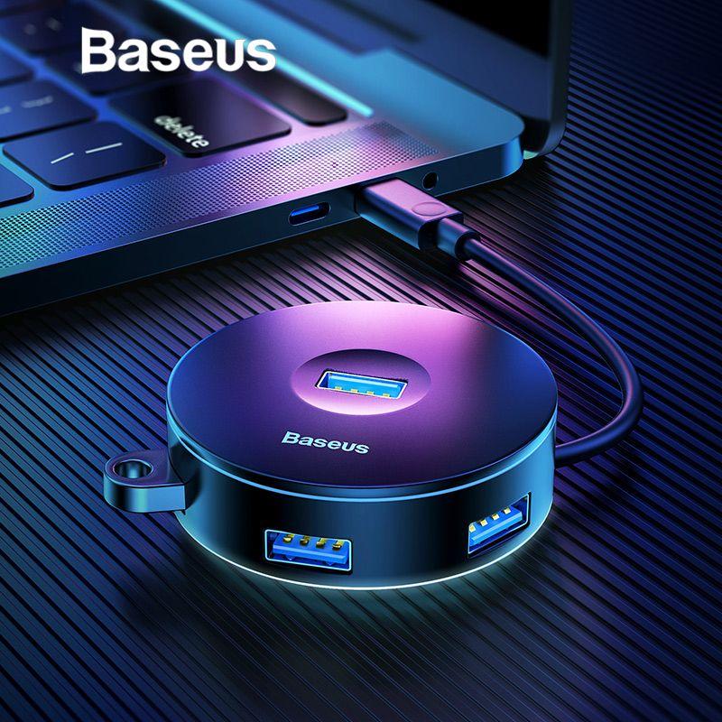 Baseus Multi USB 3.0/Type C HUB à USB3.0 + 3 USB2.0 pour Macbook Pro HUB Adaptateur pour Huawei p20 Ordinateur Disque Dur Accessoire