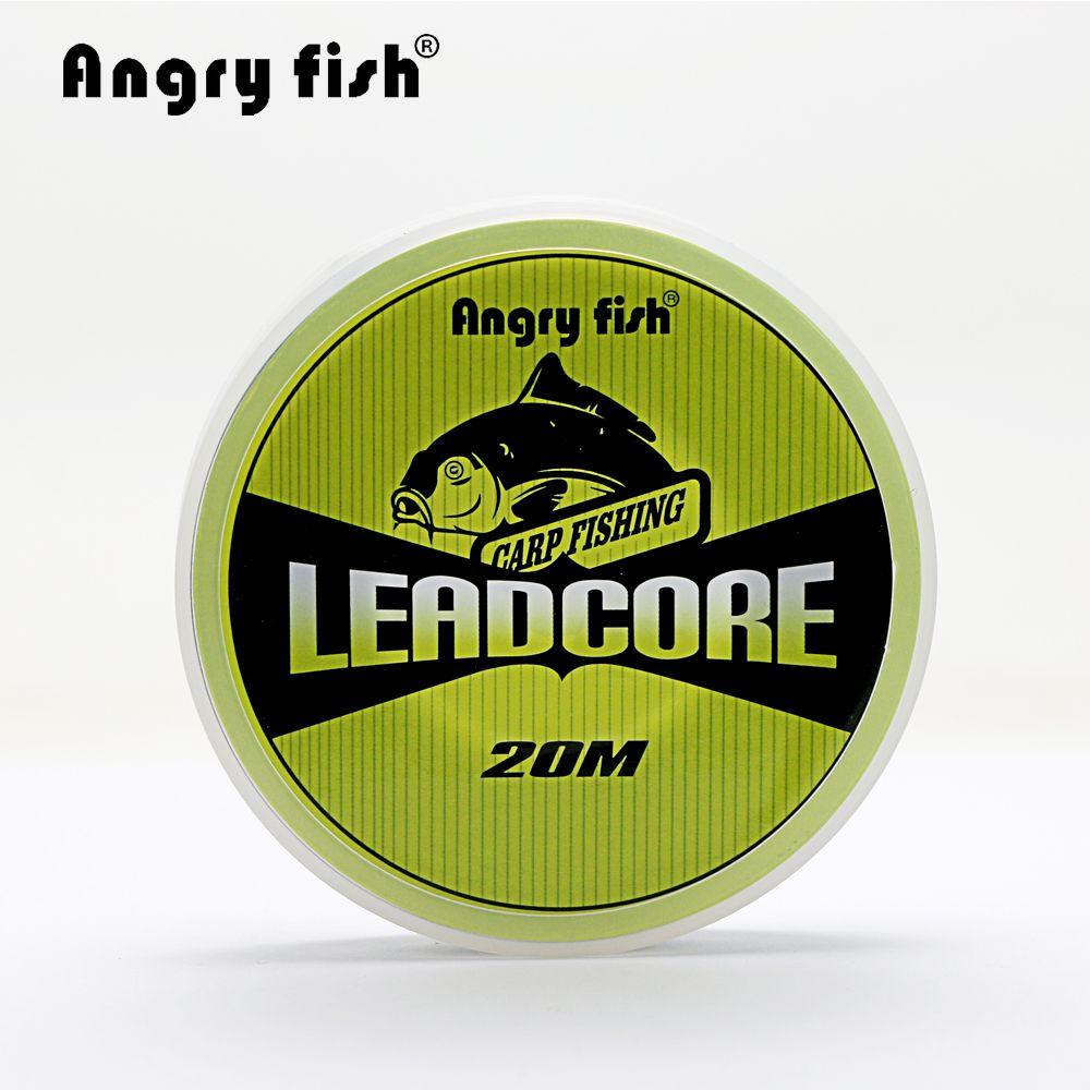 Angryfish Noyau de Plomb Pêche À La Carpe Ligne 25Lbs 35Lbs 45Lbs 60Lbs 20 Mètres pour Carpe Rig Faire Naufrage Tressé Ligne