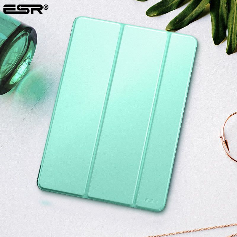 Case for iPad 9.7 2017 Cover, ESR Yippee Color PU Leather+Ultra <font><b>Slim</b></font> Light Weight PC Smart Back Cover Case for New iPad 2018