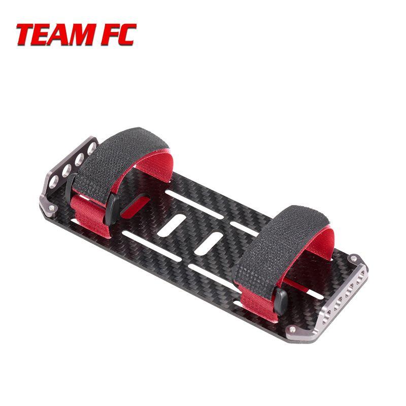 Schwarz Carbon Fiber Batterie Montage Platte für RC Auto 1:10 Skala RC Crawler Autos Axial SCX10 CC01 F350 D90 RC4WD modell Spielzeug S212