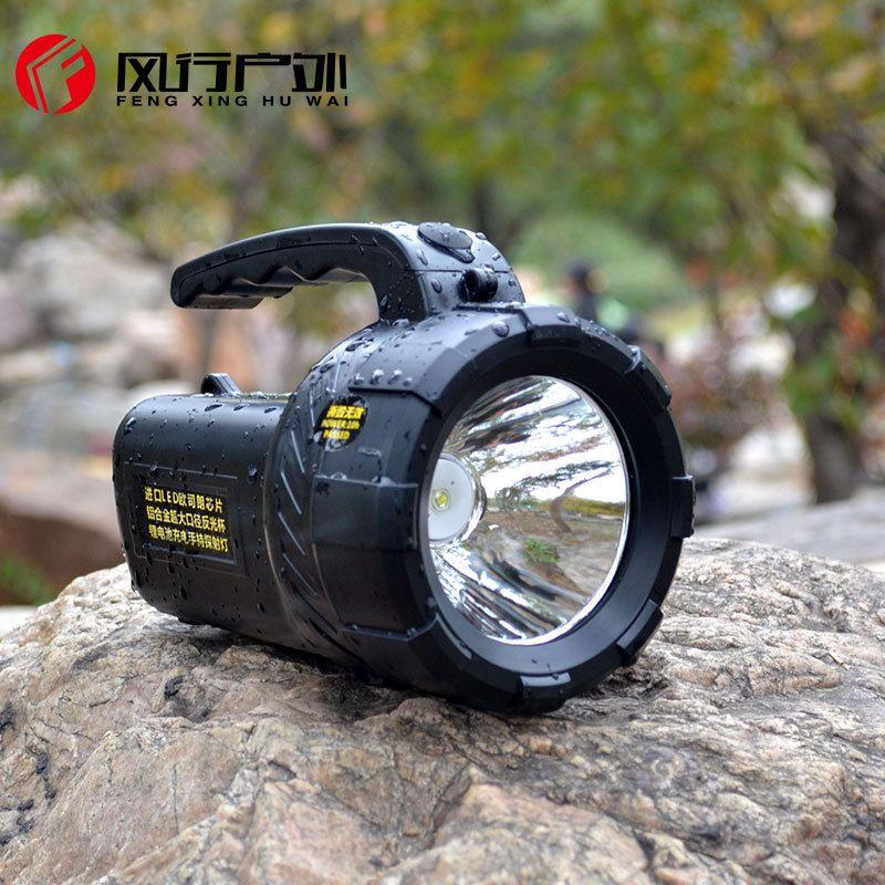 Alta potencia proyector portable searchlight linterna recargable impermeable caza proyector Incorporado En la batería