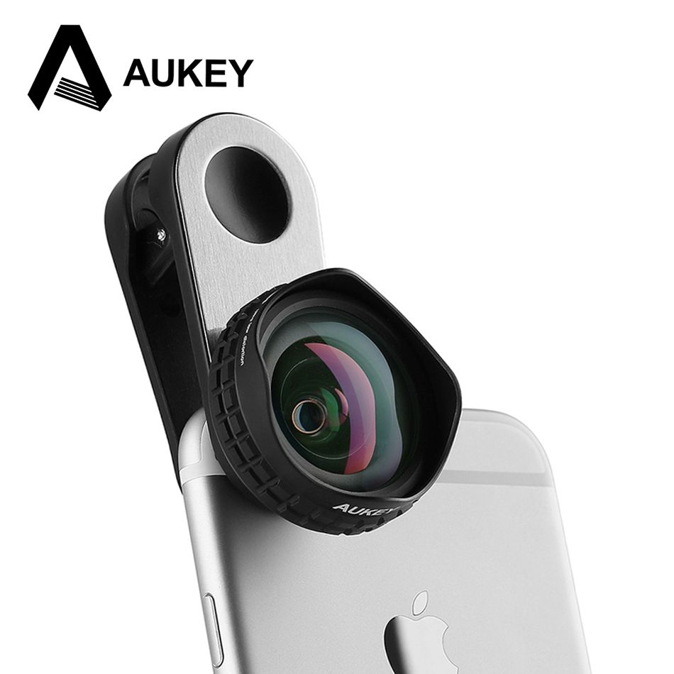 AUKEY Optic Pro Lens 18MM HD Wide Angle Cell Phone Camera Lens Kit 2X More Landscape for iPhone X 8 7 Samsung HTC Xiaomi & More