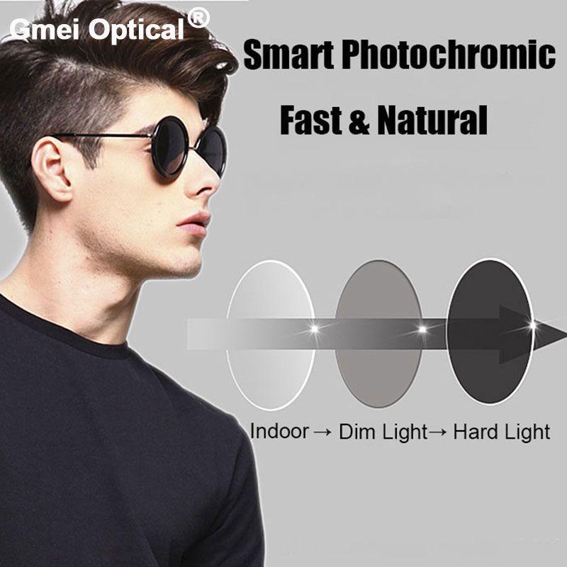 Beschichtung Photochromen Gläser 1,61 Hoch Index Einstärken Asphärische Rezept Objektiv Anti-Radiation & UV Farbwechsel Schnell