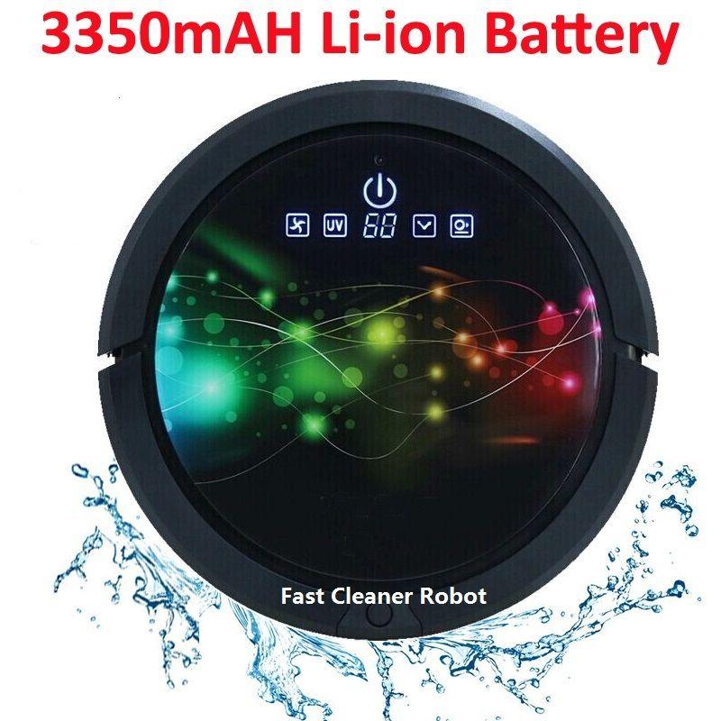 Roboter Staubsauger Nassen Und Trockenen Mopp, Roboter Aspirador Mit Wasser Tank, 3350 MAH lithium-Batterie, ultra sonic Sensor, sonic Wand, LCD