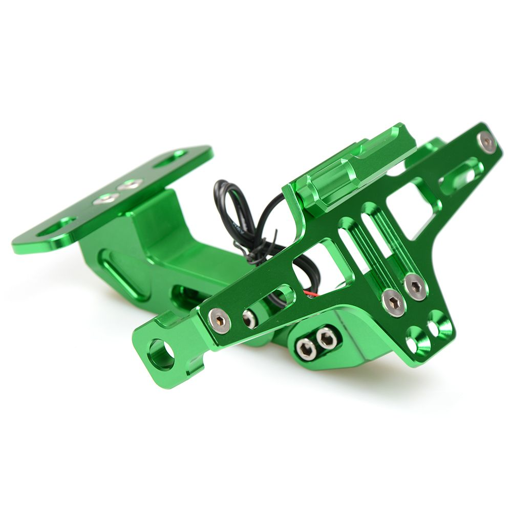 Motorcycle Accessories CNC Rear License Plate Mount Holder with LED Light For Kawasaki ZG1000 CONCOURS ZR10R ZR6R ZR750 ZEPHYR