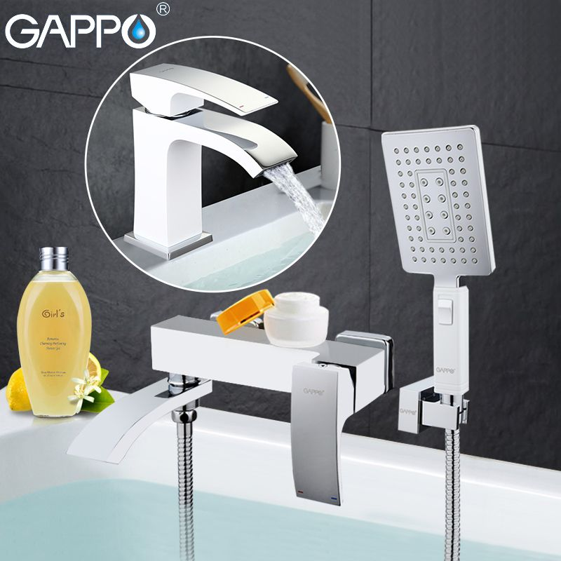 GAPPO white Shower Faucets bathtub mixer bath tub taps basin faucet basin sink tap water mixers shower system
