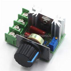 2000 Вт 220 В SCR Электронный Напряжение Регулятор модуль Скорость Управление;