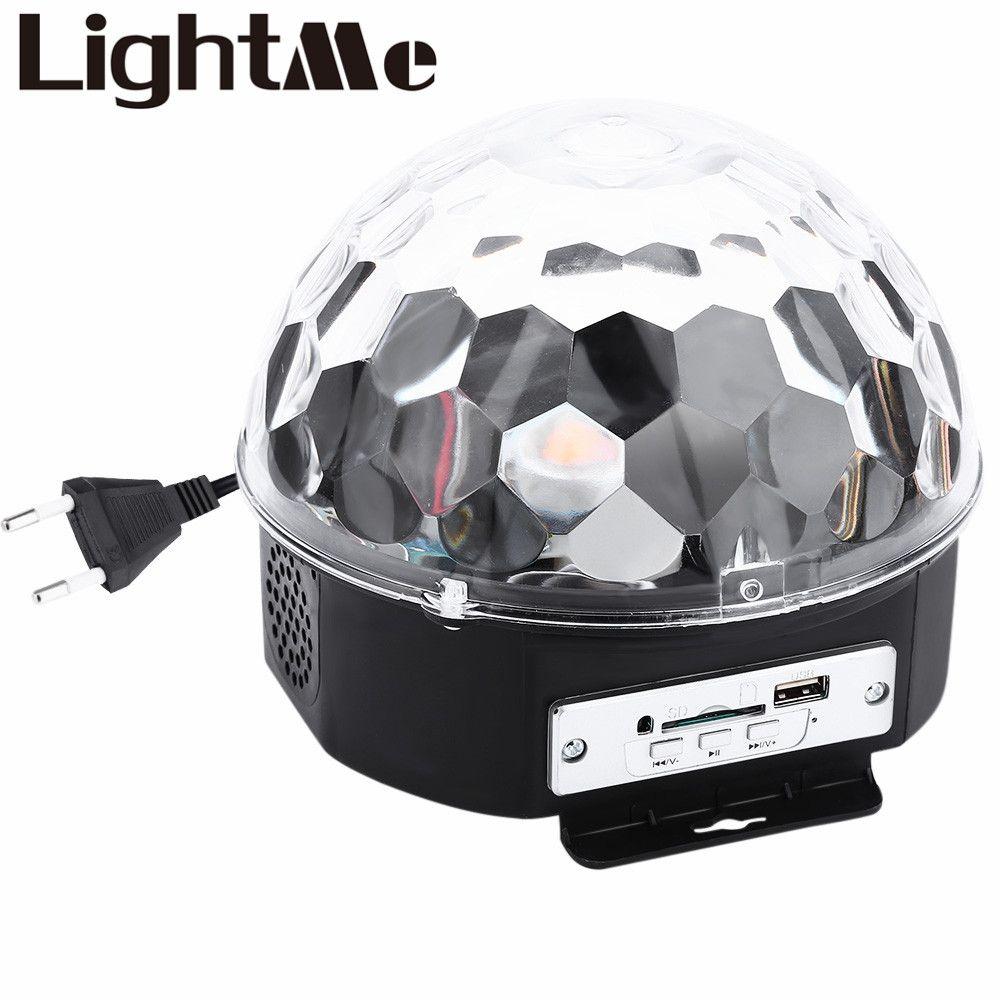 10-25 Вт 6 Светодиодов RGB Premium Sound Control Свет Этапа RGB LED Магический Хрустальный Шар Лампы Свет Диско Лазерная Свадьба лампы
