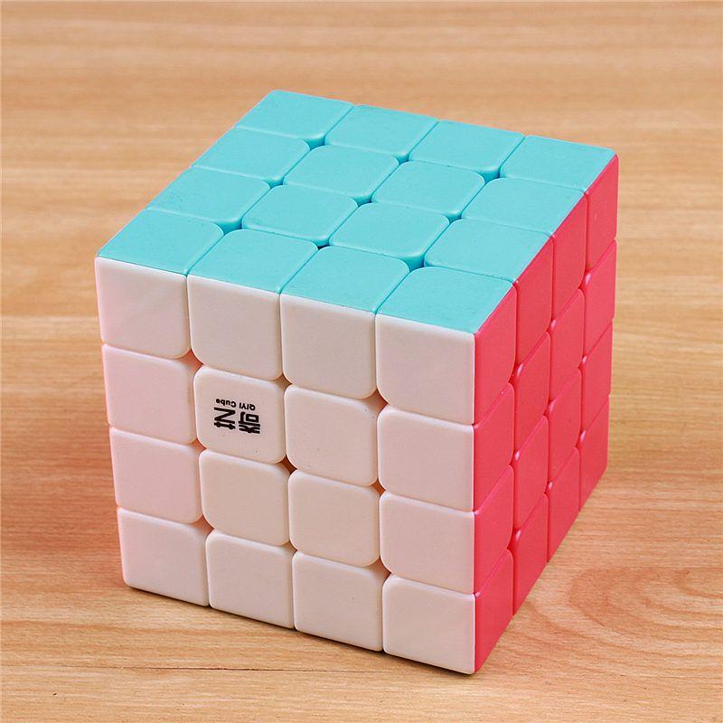 QIYI 4x4x4 magic speed cube autocollant moins professionnel puzzle cubo magico jouets éducatifs pour enfants en gros