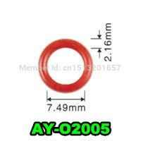 200pieces 7.49*2.16mm fuel injector seals viton o ring for Mazda Engine replacement parts  (AY-O2005) CDH275