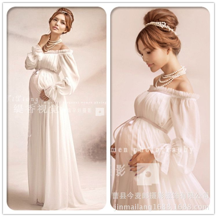 Elegant lace dress apoyos de la fotografía de maternidad larga dress embarazo embarazadas ropa de lujo foto props disparar hamile elbise