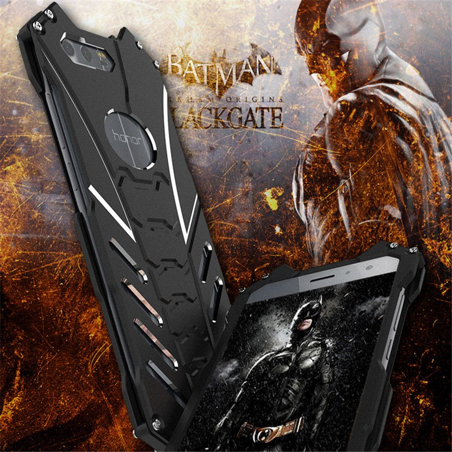 Cool Alloy Holder Case For Huawei Honor 9 Metal Armor Case On Honor-9 Protective Cover 5.15 R-JUST Batman Bumper Kickstand Funda